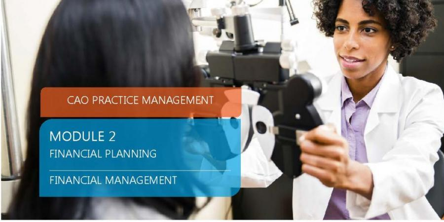 CAO Practice Management - Module 2, Financial Planning